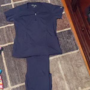 Navy scrub set Uniform Advantage Buttersoft small
